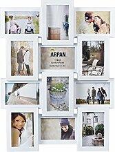 ARPAN Mehrfach-Bilderrahmen, für 12 Fotos à 15 x