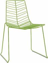 Arper - Leaf Stuhl (stapelbar), grün