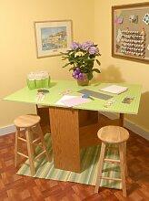 Arrow 98602   'Pixie' Schneide-Tisch   Farbe Pistaziengr�n   150� x 91� x 82cm