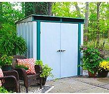 Arrow Metall-Gerätehaus Euro-Lite 64 Gartenhaus Schuppen 2,5 m² altweiss-grün