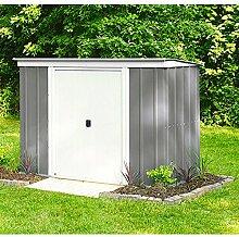 Arrow Metall-Gerätehaus PT 104 Gartenhaus Schuppen 3,41 m² grau