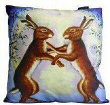 Art Cushion Cover - Night Dancing Hares by A & W