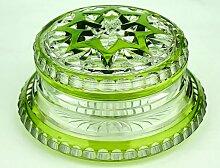 Art Deco Bonbonniere aus Glas von Val Saint