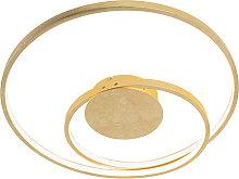 Art Deco Deckenleuchte gold dimmbar inkl. LED -
