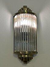 Art Deco Glasstäbchen Wandleuchte Bauhaus Lampe