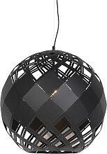 Art Deco Hängelampe schwarz - Tourmaline