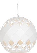 Art Deco Hängelampe weiß - Tourmaline