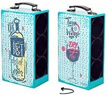 Art Deco Home - Flaschenkorb für 3 Flaschen, MDF,