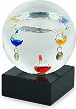 Art Deco Home - Galileo-Thermometer in Kugelform,