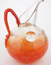 Art Deco Kanne aus Sideglas von Charles Schneider,