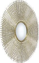 Art Deco Spiegel rund 78 cm Gold - Edda