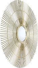 Art Deco Spiegel rund 80 cm Gold - Surya