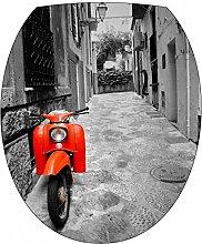Art Deco Sticker WC-Aufkleber WC-Sitz Vespa 387