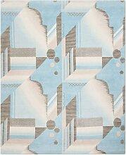 Art Deco Teppich in Aqua von Knots Rugs