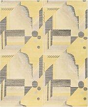 Art Deco Teppich in Lemon von Knots Rugs