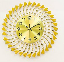 Art-deco-tisch Clock Kreativ Living room Silent wall clocks Diamant Persönlichkeit Simple-D 70x33cm(28x13inch)