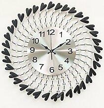 Art-deco-tisch Clock Kreativ Living room Silent wall clocks Diamant Persönlichkeit Simple-C 60x22cm(24x9inch)