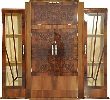 Art Deco Walnuss Barschrank