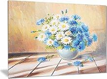 Art-design designart Blumenstrauß auf Holz Tisch