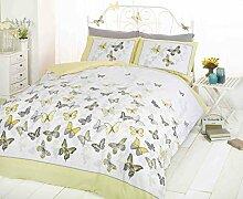 art Double Bettbezug und 2Kissenbezüge Bett-Set, Polycotton, gelb