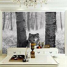 Art Fototapete Wolf 3D Wandbilder Vlies Tapete