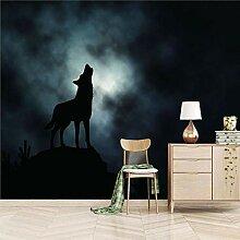 Art Fototapete Wolf & Heulen 3D Wandbilder Vlies