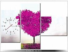 art-gallery XXL–100x 70cm–Baum D 'Amour–Wanduhr Tabelle–Deco Moderne–New Design
