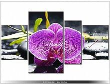 art-gallery XXL–120x 70cm–Die Orchidee–Wanduhr Tabelle–Deco Moderne–New Design