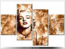 art-gallery XXL–120x 80cm–Marilyn Monroe–Wanduhr Tabelle–Deco Moderne–New Design