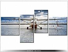 art-gallery XXL–140x 70cm–Die Schraube der Flugzeug–Wanduhr Tabelle–Deco Moderne–New Design