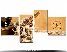 art-gallery XXL–140x 70cm–Kaffee aromatisiert–Wanduhr Tabelle–Deco Moderne–New Design