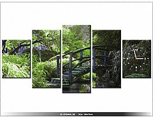 art-gallery XXL–150x 70cm–Japanischer Garten–Wanduhr Tabelle–Deco Moderne–New Design