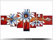 art-gallery XXL–160x 70cm–Landschaft–Blumen–Wanduhr Tabelle–Deco Moderne–New Design