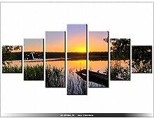 art-gallery XXL–210x 100cm–Den Sonnenuntergang–Wanduhr Tabelle–Deco Moderne–New Design