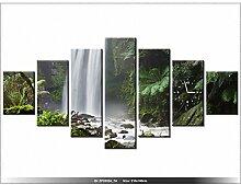 art-gallery XXL–210x 100cm–Wasserfall–Wanduhr Tabelle–Deco Moderne–New Design