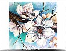 art-gallery XXL–40x 40cm–Kirschblüten–Wanduhr Tabelle–Deco Moderne–New Design