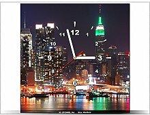 art-gallery XXL–40x 40cm–New York–Wanduhr Tabelle–Deco Moderne–New Design