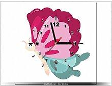 art-gallery XXL–40x 40cm–Schmetterling–Wanduhr Tabelle–Deco Moderne–New Design
