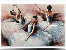 art-gallery XXL–60x 40cm–Ballerina–Tanz–Wanduhr Tabelle–Deco Moderne–New Design