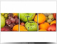 art-gallery XXL–90x 30cm–die Früchte und Gemüse–Wanduhr Tabelle–Deco Moderne–New Design