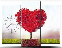 art-gallery XXL–90x 70cm–Baum D 'Amour–Wanduhr Tabelle–Deco Moderne–New Design