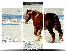 Art Gallery XXL, 70 x 90 cm, Querformat, Winter, Tabelle MULTI-Platten Modern DECO-NEW-DESIGN
