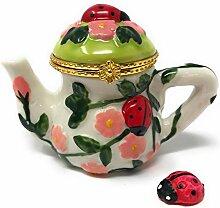 Art Gifts Lovely Red Marienkäfer & Rosa Blumen