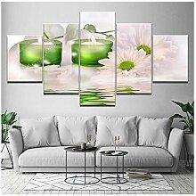 Art Modular Canvas Bild 5 Stück Chrysanthemen-