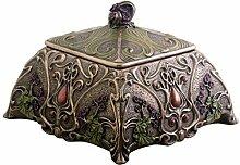Art Nouveau Jewelry Box Holder, Flower by