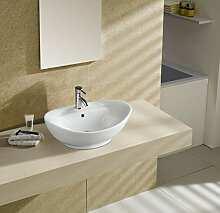 Art-of-Baan® - Design Waschbecken Oval Keramik