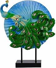 Art Peacock Modell Ornamente Skulptur Wohnzimmer
