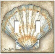 Art Plates Wandplatte, Übergröße, Muschelschale