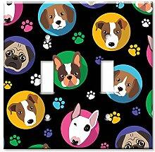 Art Plates Wandteller, Übergröße, Hundeköpfe