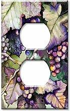 Art Plates Wandteller, Übergröße, Trauben und